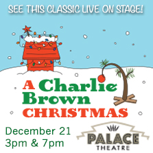 Charlie Brown Christmas at The Palace Theatre December 21
